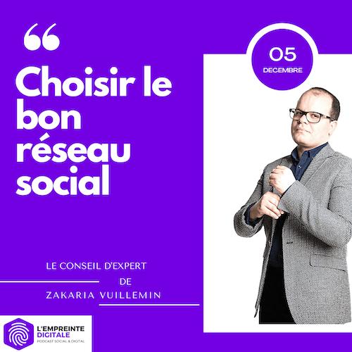 Conseil #5 : Choisir le bon réseau social