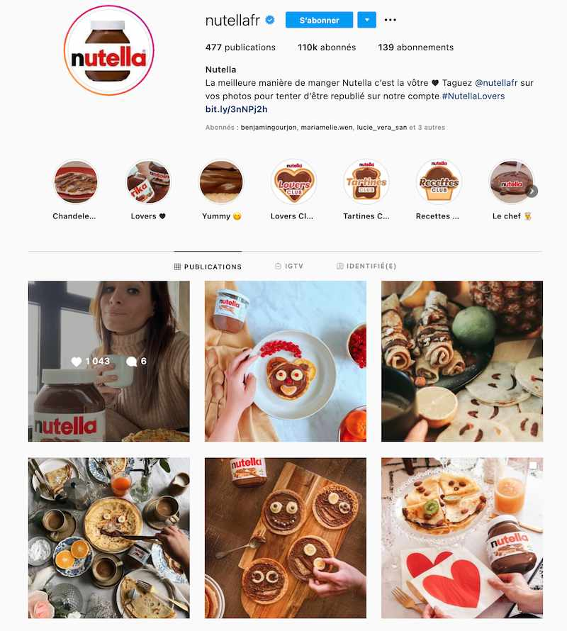 instagram nutella ferrero huile palme