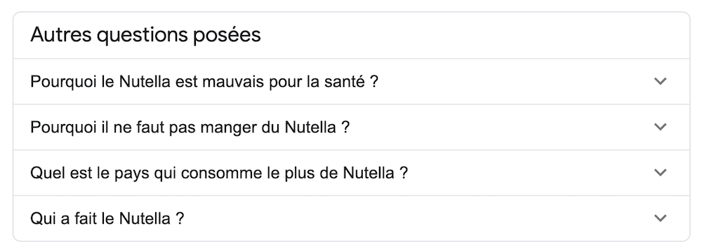 referencement nutella seo google