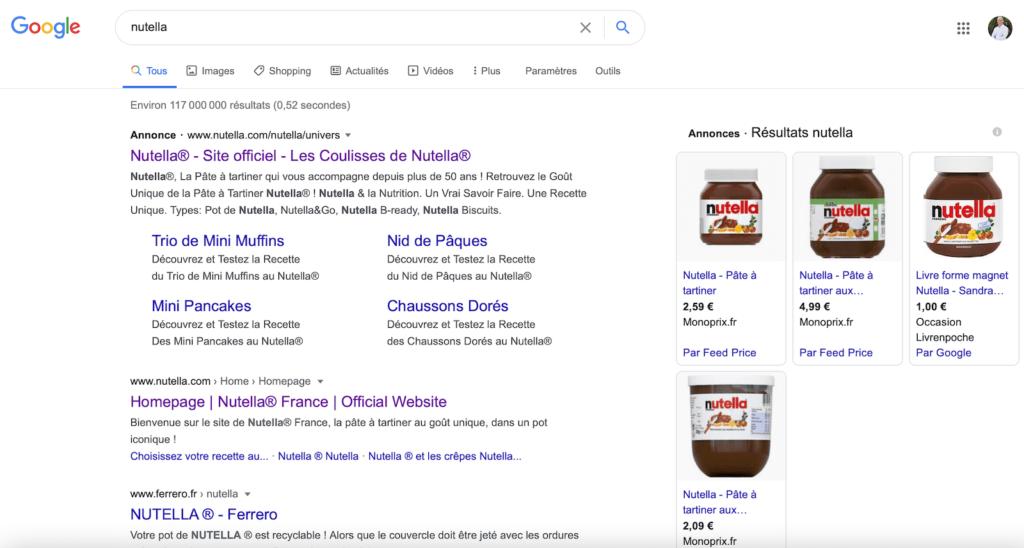 seo nutella google