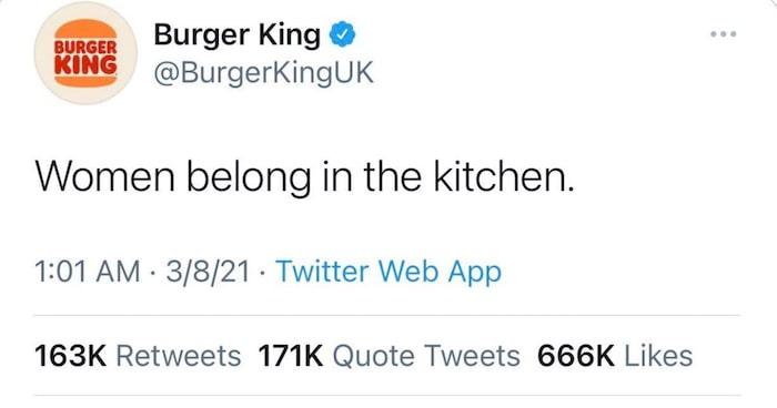 analyse bad buzz burger king women kitchen