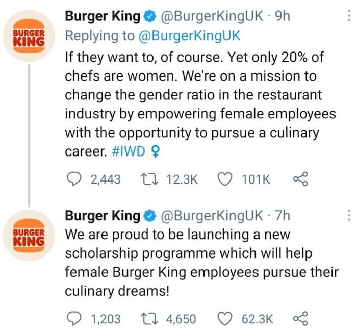 analyse bad buzz women belong kitchen burger king