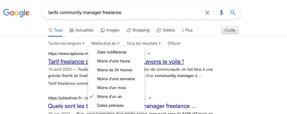exemples tarifs community management freelance