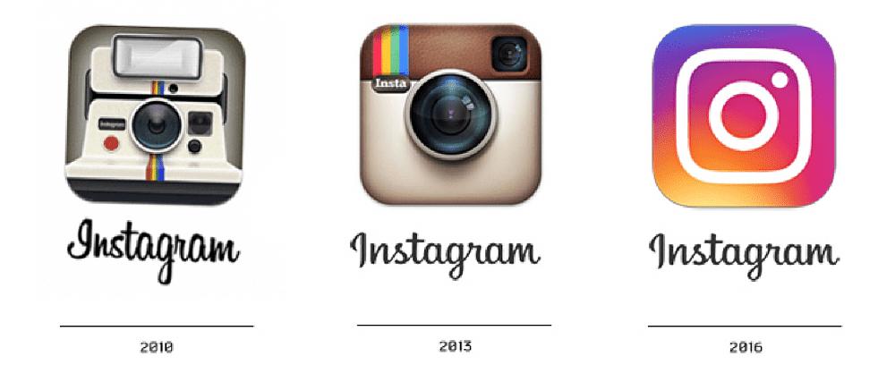 evolution logo instagram 2010 2016