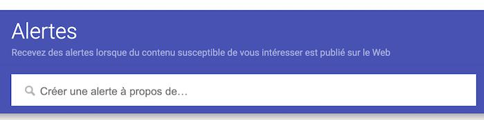 comment creer une alerte google