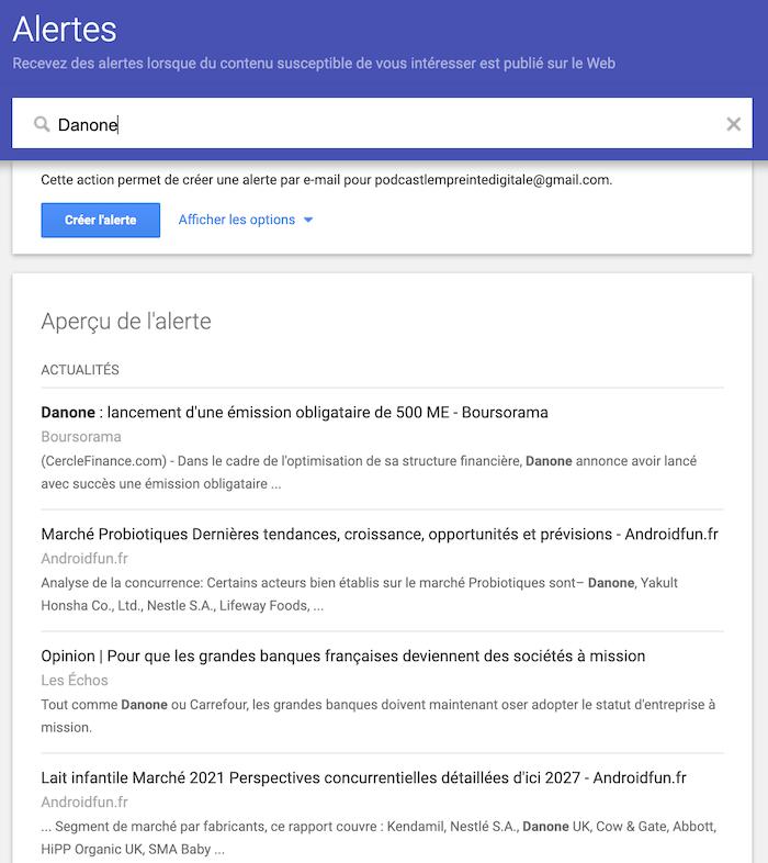 comment creer une google alerte